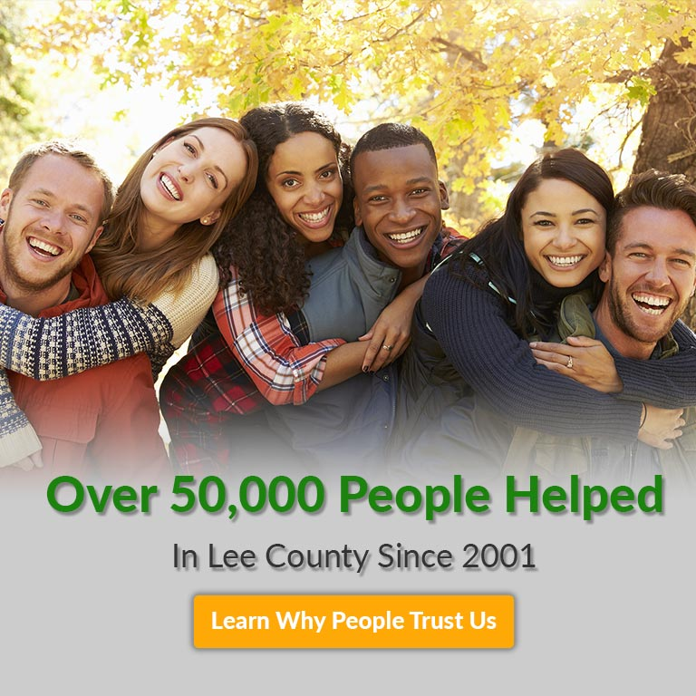 over 50000 people helps in lee county